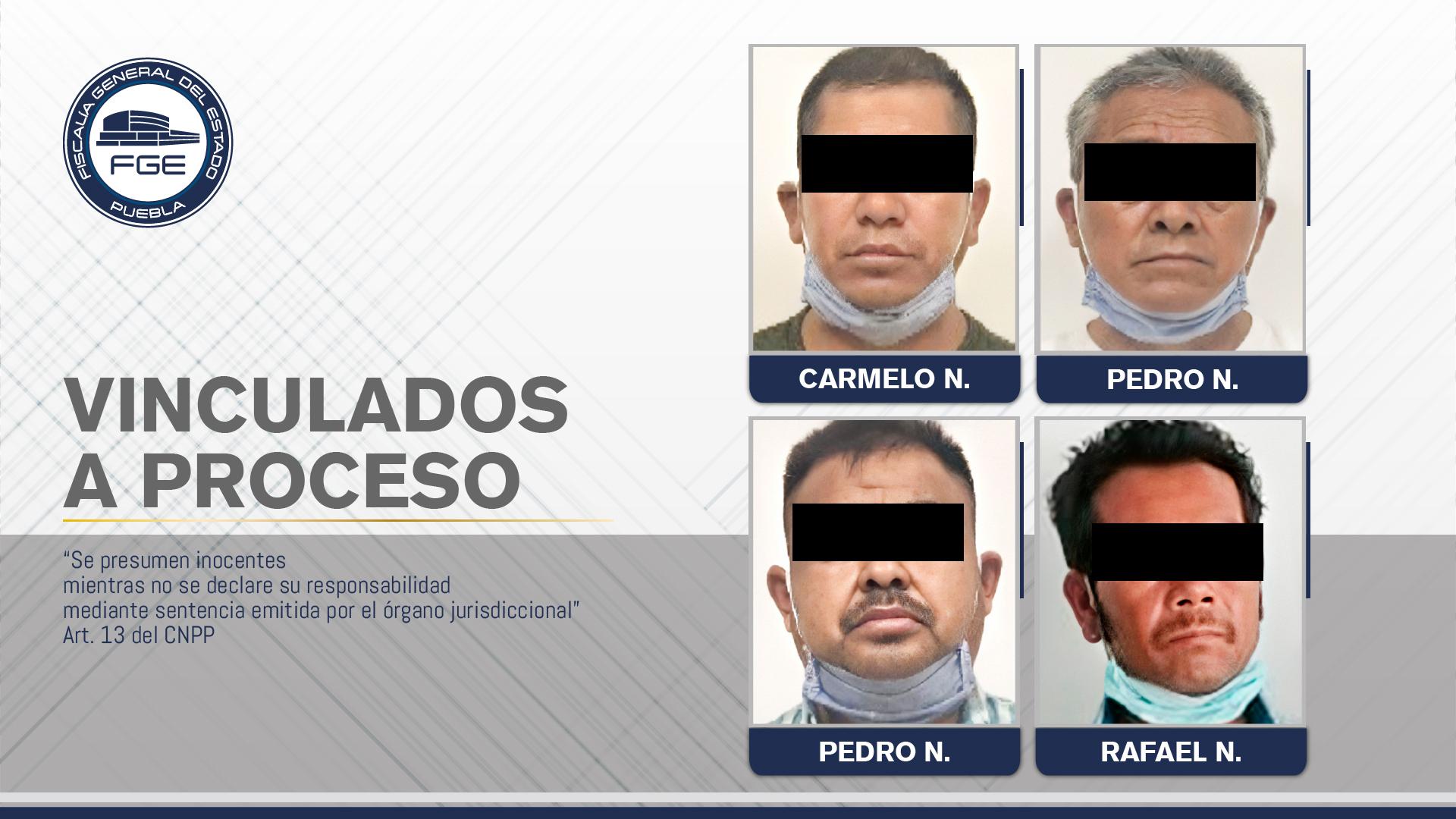 Por el doble homicidio en Los Ángeles Tetela, Fiscalía obtuvo vinculación a proceso contra cuatro hombres