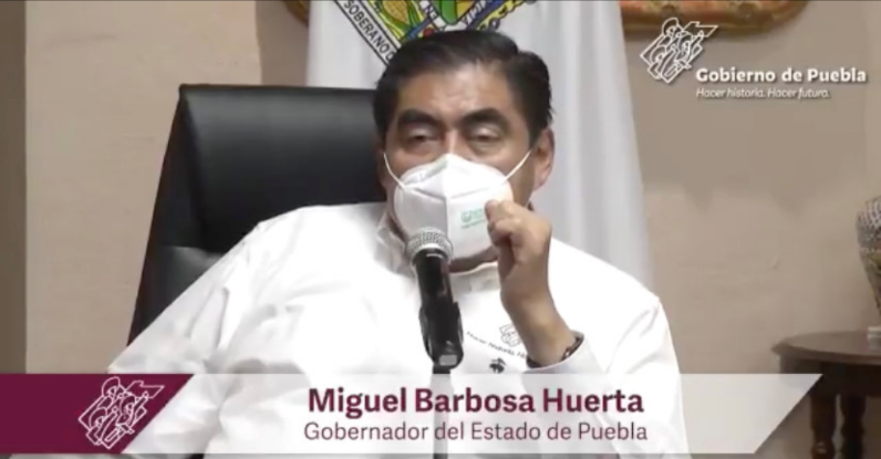 Confinamiento se podría extender en Puebla si los casos de covid-19 no disminuyen: Barbosa