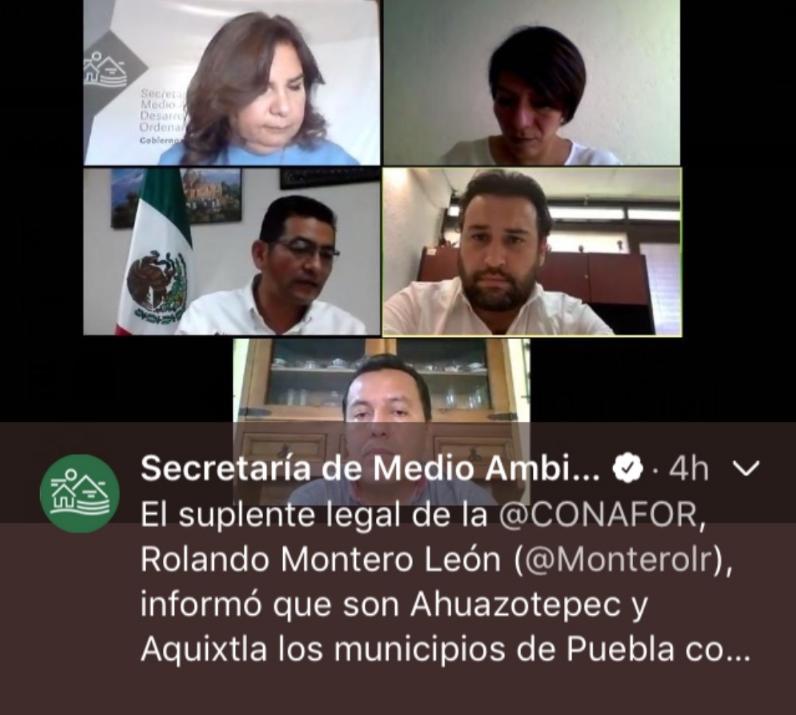 Puebla se colocó en el lugar 7 a nivel nacional en incendios forestales