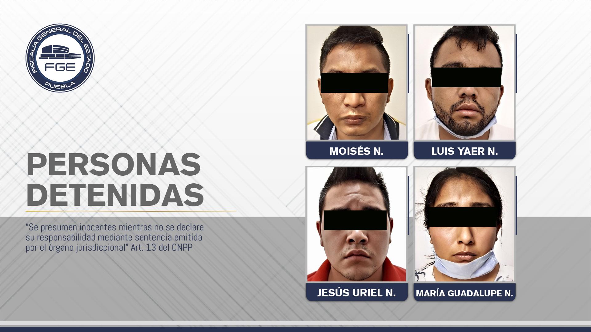 FGE Puebla rescató a joven secuestrado y detuvo a cuatro personas