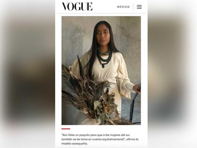 Ella es Karen Vega, la primera modelo oaxaqueña en la portada de Vogue