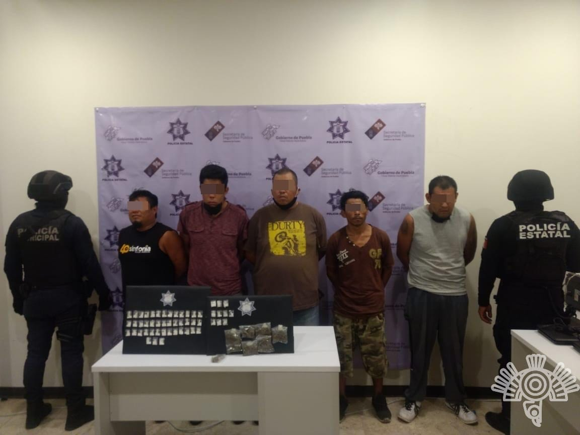 Cinco presuntos secuestradores fueron detenidos por las policías estatal y municipal de Tehuacán