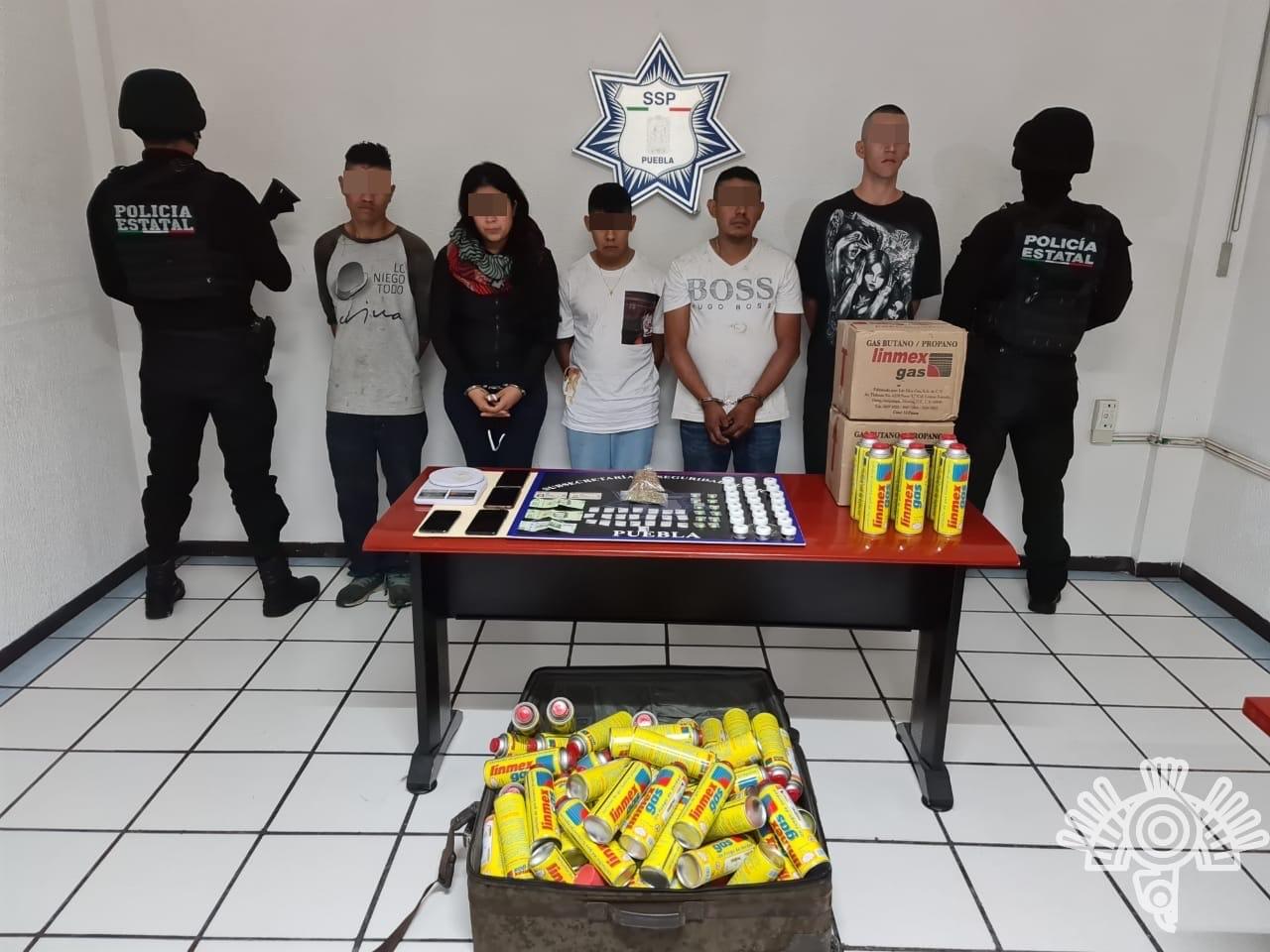 """Policía estatal y Guardia Nacional detienen a cinco ligados a """"La Unión Tepito"""""""