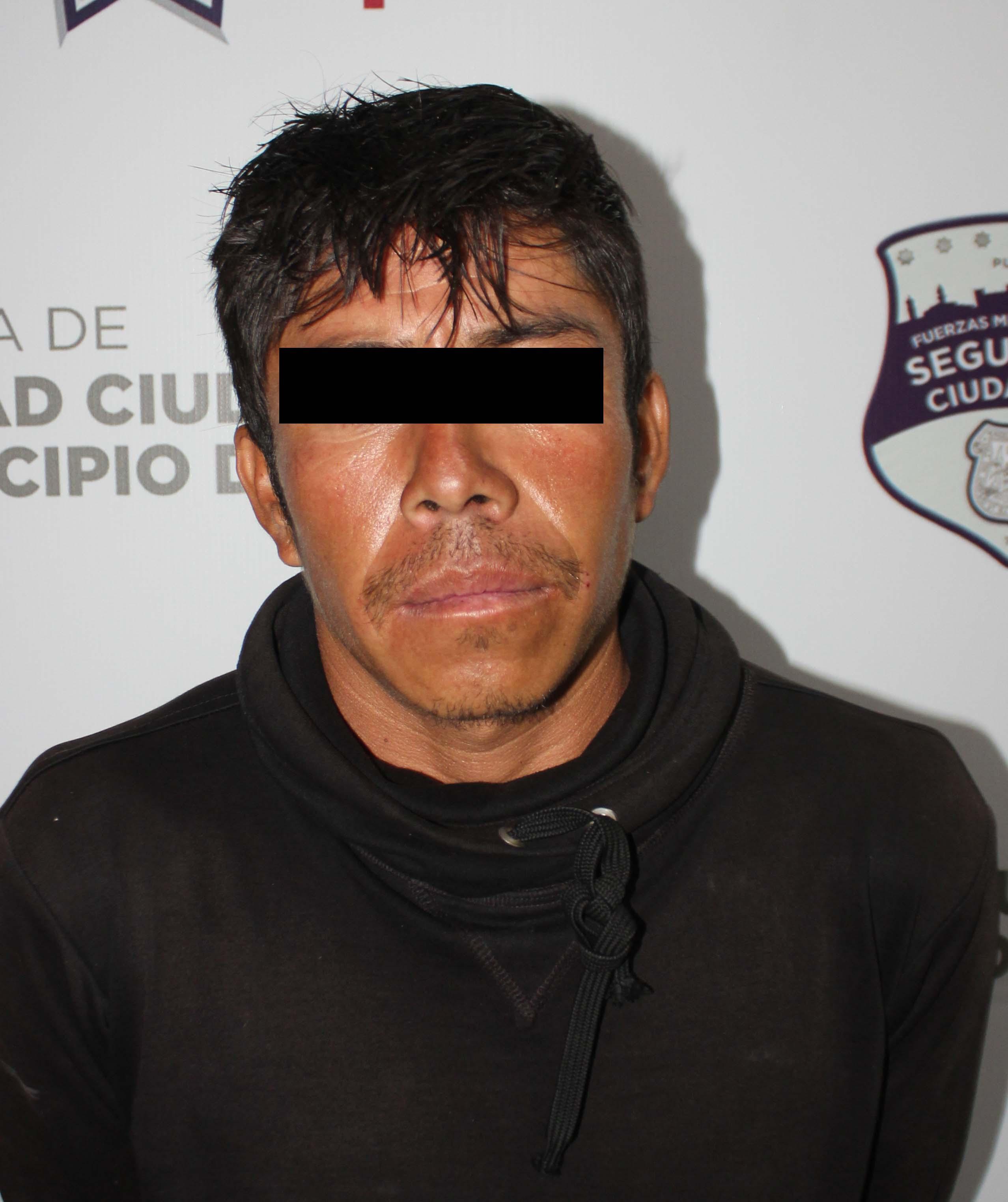 Aseguró Policía Municipal de Puebla más de 30 dosis de posible droga; un detenido