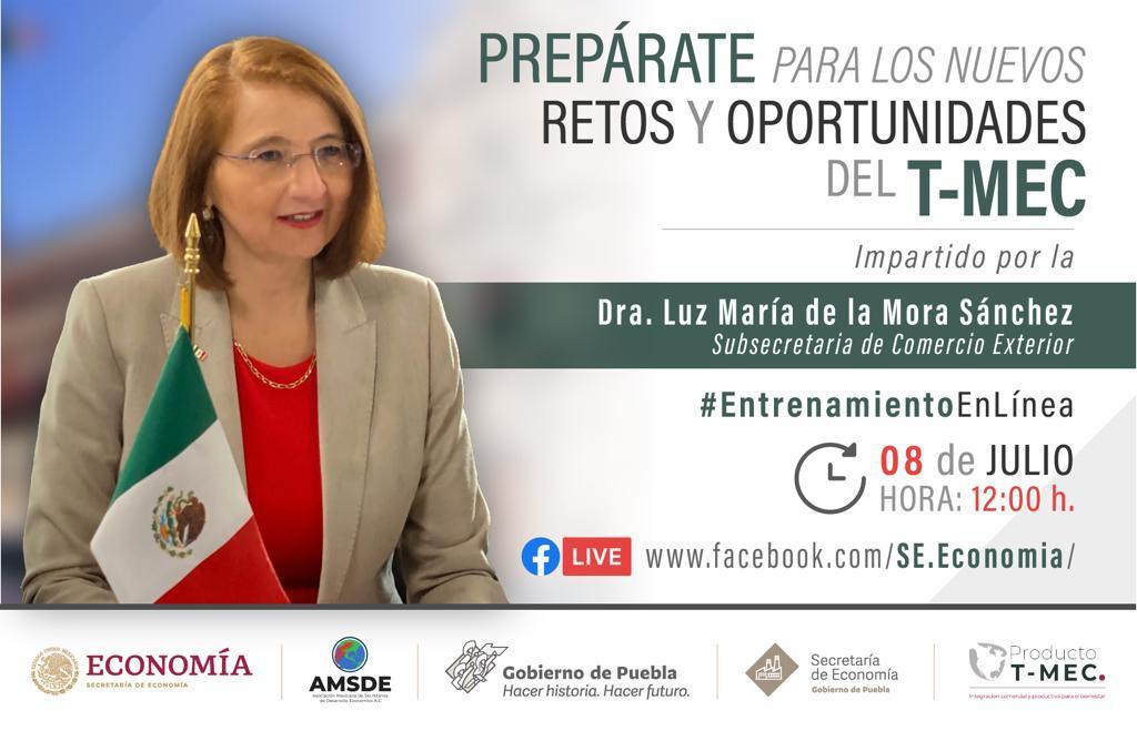 """Entrenamiento en línea """"retos y oportunidades del T-MEC"""", ofrecerá la Secretaría de Economía"""