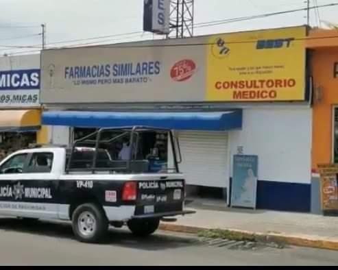 Un hombre de 60 años de edad perdió la vida al interior de una farmacia en la colonia La Libertad