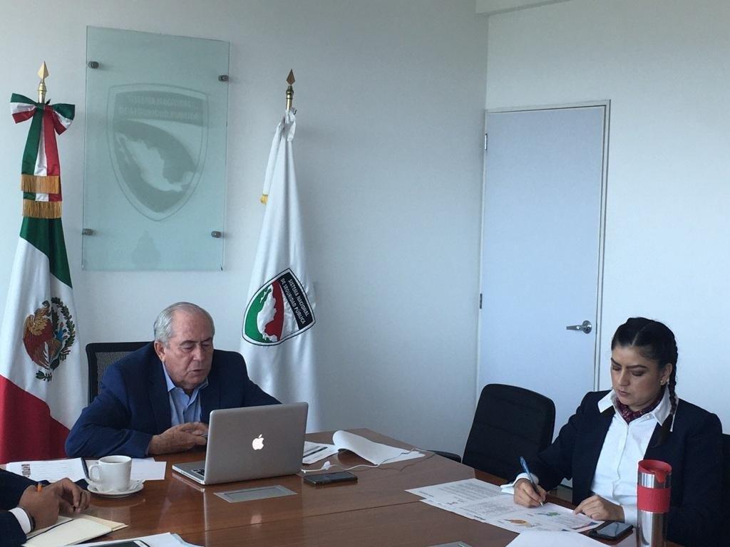 Claudia Rivera se reunió con Leonel Cota, del Sistema Nacional de Seguridad Pública