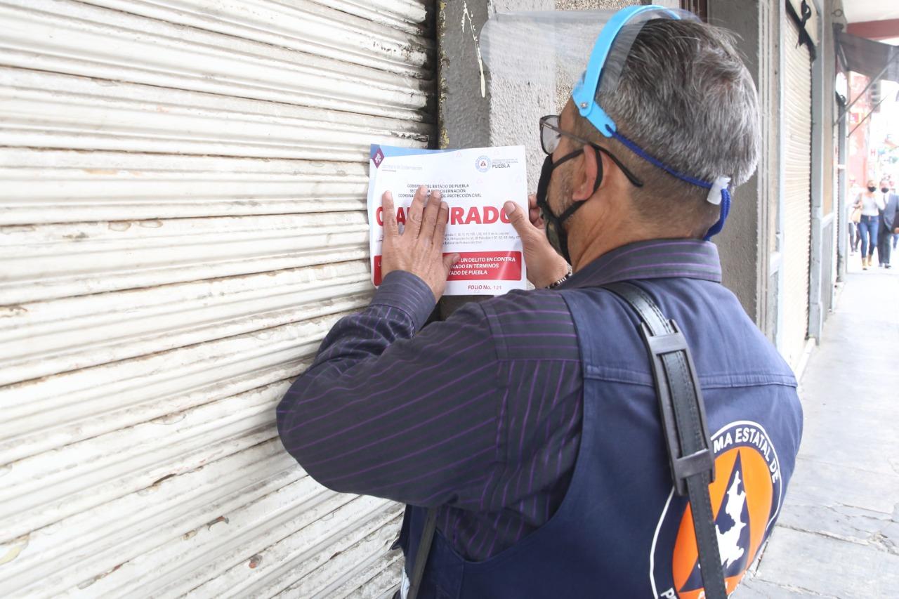 Protección Civil estatal verifica que comercios cumplan con las medidas sanitarias anticoronavirus