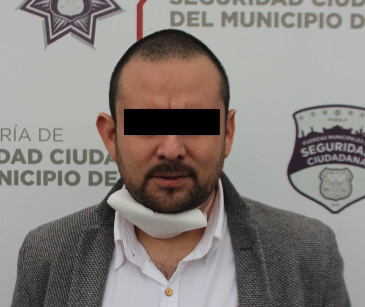Tránsito municipal de Puebla detuvo a sujeto por portación ilegal de arma de fuego