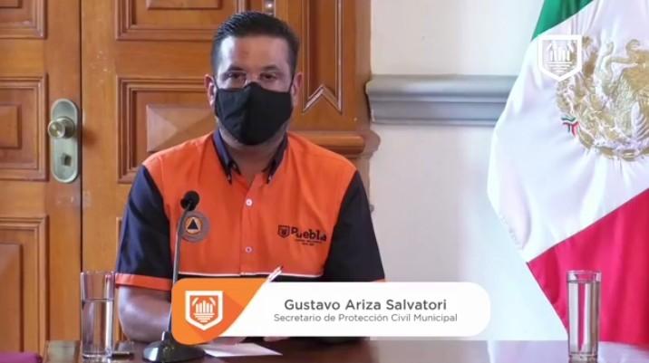 Video desde Puebla: Titular de Protección Civil municipal reiteró que no se abrirá el comercio hasta que el semáforo pandémico esté en naranja