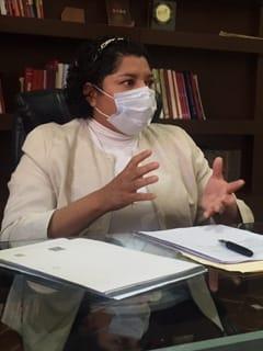 Video desde Puebla: Pese al recorte del 50% en las participaciones federales, ayuntamiento de San Andrés ha invertido 15 mdp para enfrentar la pandemia, informó la presidenta, Karina Pérez Popoca