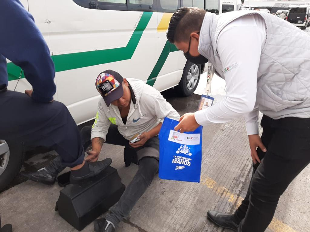Desde Tlaxcala: Sesa entrega equipo anticovid19 a personas en situación de calle o vulnerables