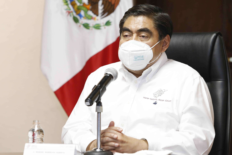 Video desde Puebla: El sistema de Salud estatal no colapsará por el Covid-19, reitera Barbosa Huerta.