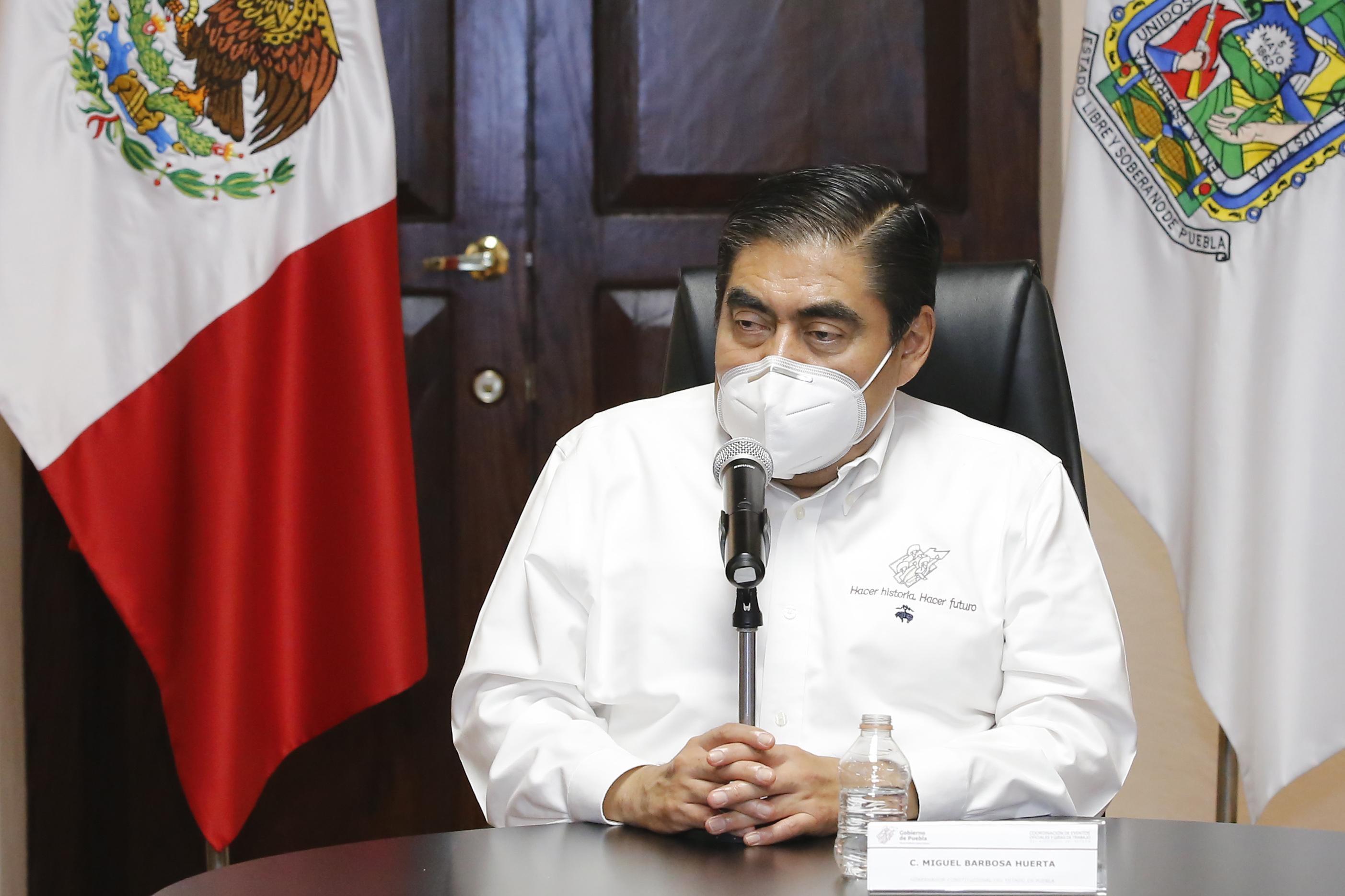Video desde Puebla: Gobernador Barbosa informó que el subsecretario López Gatell implementará estrategia de  salud y que solo con unidad volverá la normalidad