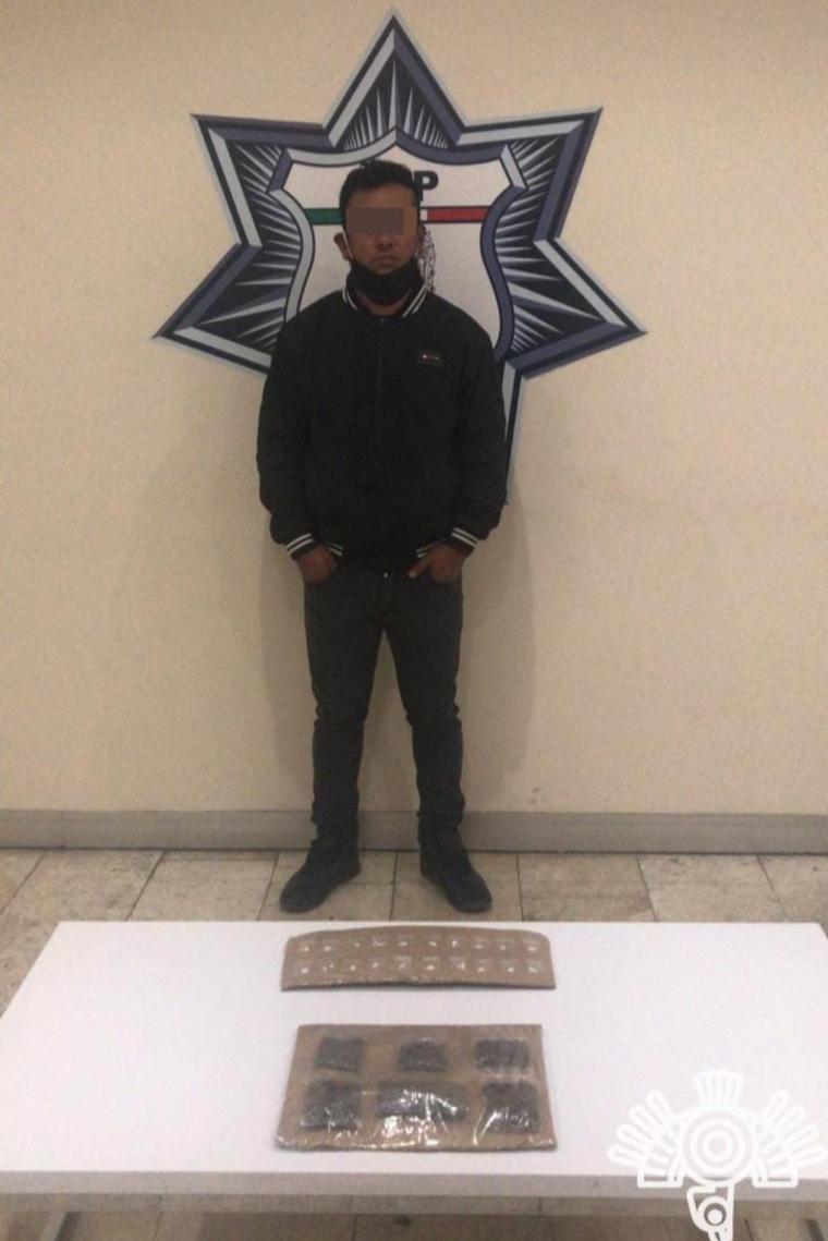 Policía Estatal detiene a presunto narcomenudista en Amozoc