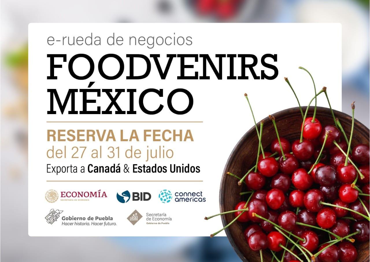 Participan 22 empresas poblanas en la e-Rueda de Negocios Foodvenirs México