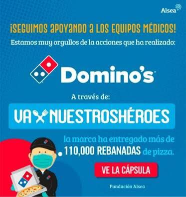 Domino's Pizza duplica la meta de rebanadas de pizza entregadas a personal de salud en México