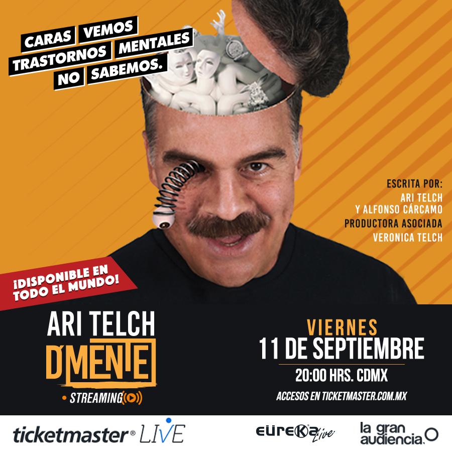"""El primer Ari Telch presentará vía streaming su exitosa obra teatral """"D'Mente"""""""
