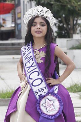 """Hannah Lía, de 5 años, representará a Puebla en el Certamen Mini Miss México en la categoría """"Baby"""""""