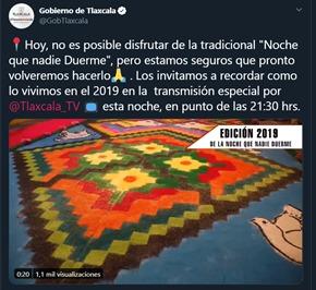 """Desde Tlaxcala: Marco Mena invita a seguir por TV este viernes """"La Noche que Nadie Duerme"""" de Huamantla de 2019"""