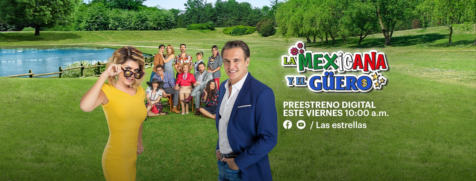 """La Mexicana y el Güero"""" tendrá preestreno digital de sus 3 primeros capítulos completos este viernes 14 de agosto"""