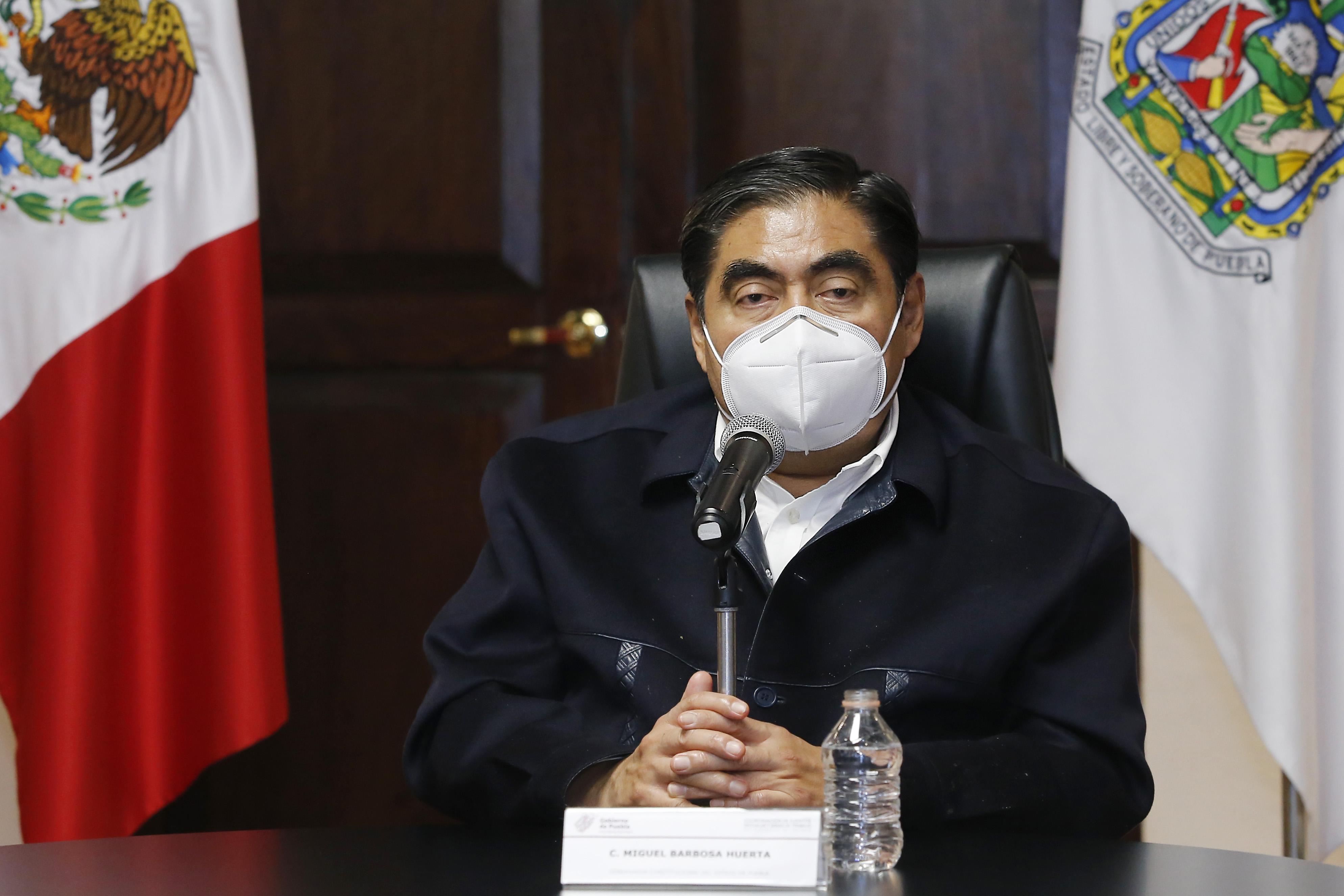 Mantener disciplina para evitar que se disparen los contagios por reapertura, pide Miguel Barbosa Huerta