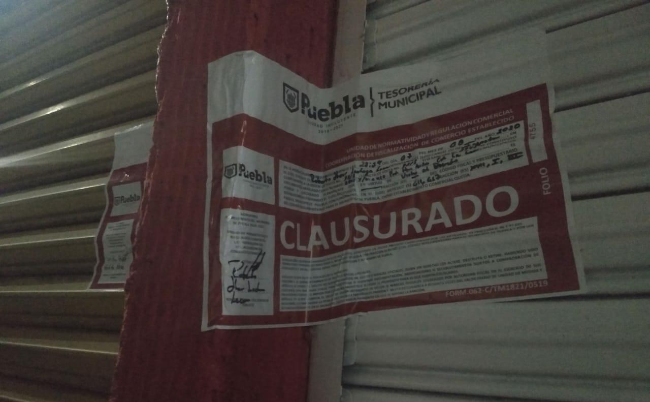 Ejecutaron Gobierno Federal y Municipal de Puebla operativo cerbero contra negocios irregulares.