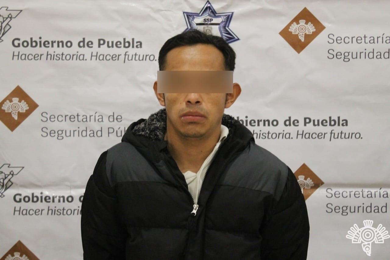 Presunto narcomenudista de Coronango es detenido por la Policía Estatal