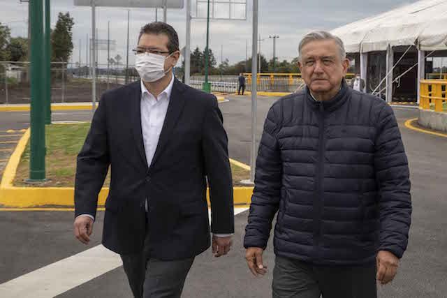 Reconoce presidente López Obrador trabajo coordinado con gobernador Marco Mena