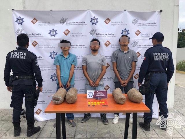 Captura Policía Estatal a presuntos vendedores de armas y droga