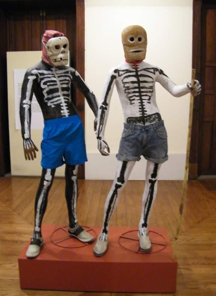 Máscaras de la Danza de los Huehues
