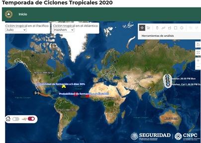 Piden tener cuidado con la tormenta tropical Julio en BC, Nayarit, Jalisco y Sinaloa