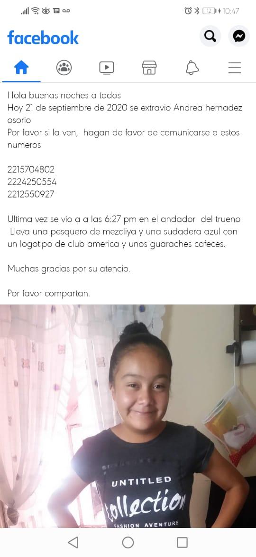 Captan momento en el que una niña de apenas 12 años desaparece en San Bartolo