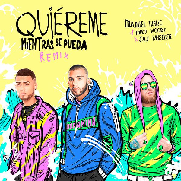 """Manuel Turizo lanza una versión remix de """"Quiéreme Mientras Se Pueda"""" en colaboración con Miki Woodz y Jay Wheeler"""