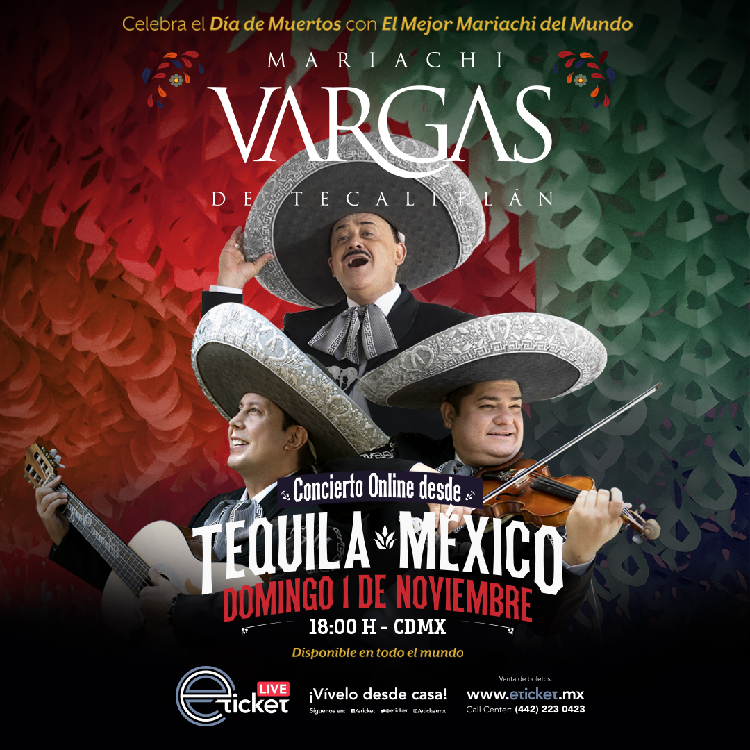 Ofrecerá el Mariachi Vargas de Tecalitlán un concierto vía Online