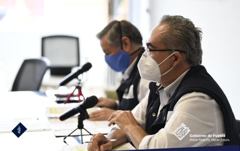 Video desde Puebla: En el estado hay 455 enfermos de covid-19 hospitalizados, señala el titular de la Secretaría de Salud
