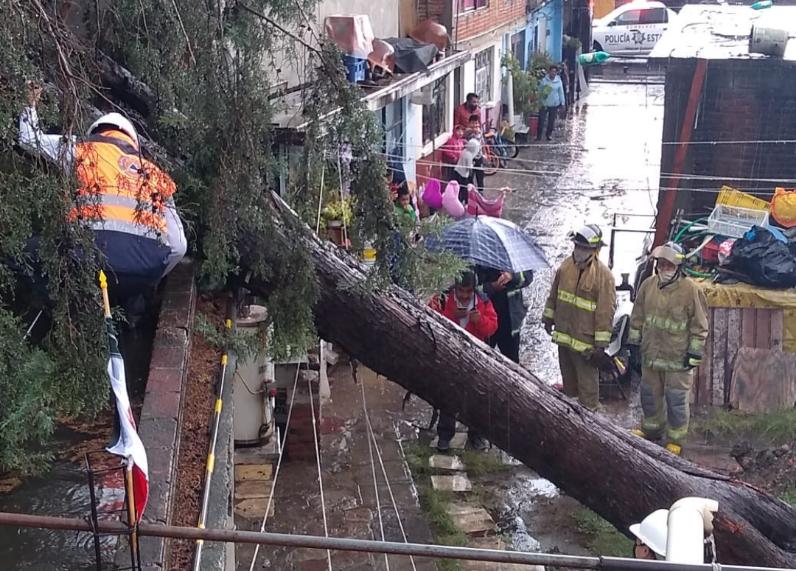 Volcaduras, derrumbes e inundaciones por la copiosa lluvia de este juevesen el estado