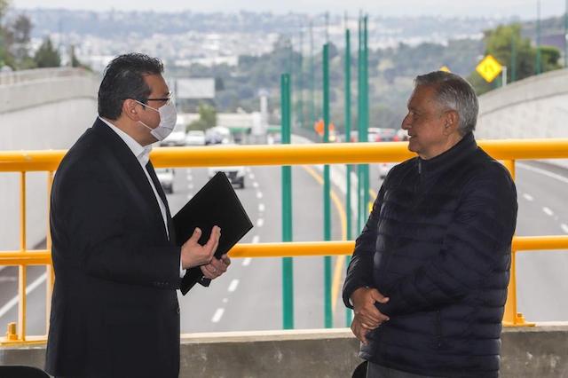 Inaugura AMLO el Paso Vehicular Ocotoxco junto con el gobernador de Tlaxcala
