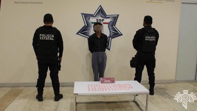 Presunto narcovendedor, detenido por la Secretaría de Seguridad Pública