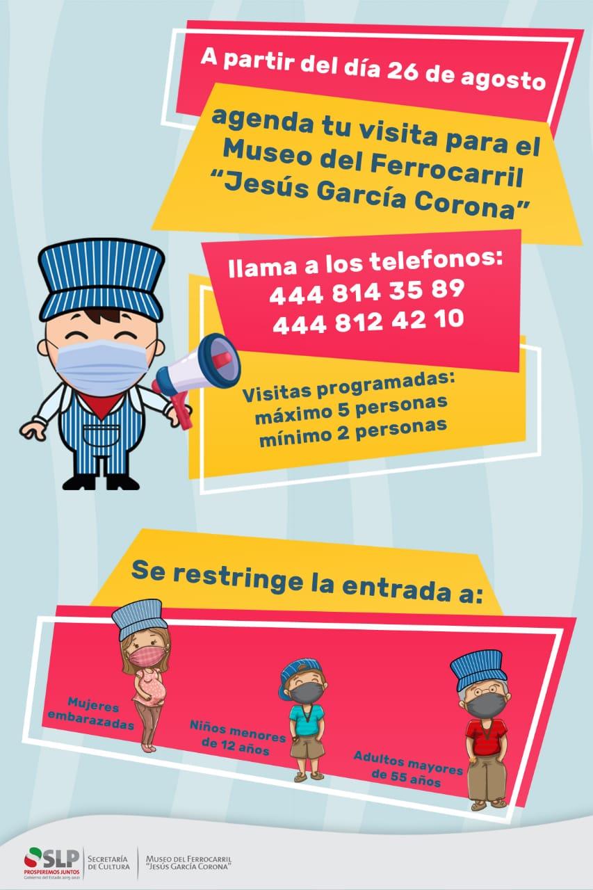 Agendar para visitar el Museo del Ferrocarril Jesús García Corona