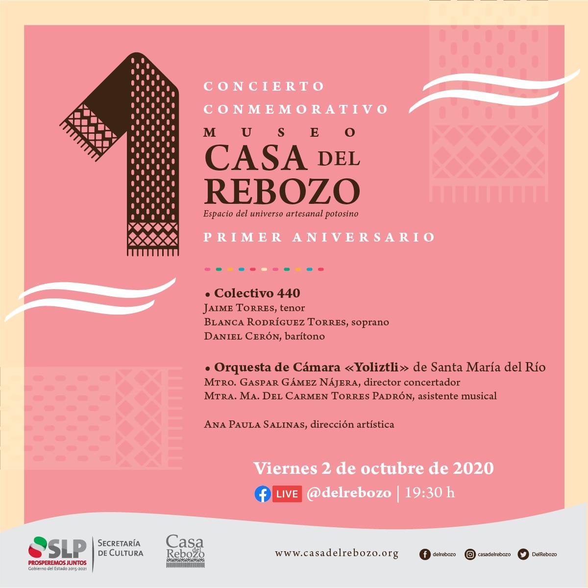 Colectivo 440 en los festejos por el primer aniversario del Museo Casa del Rebozo