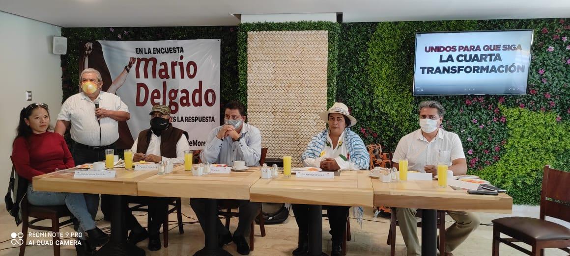 El Movimiento Nacional por la Esperanza en Puebla respalda a Mario Delgado para la dirigencia nacional de Morena