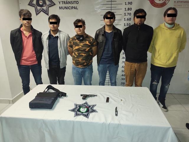 SSPTM de San Andrés Cholula detiene a 6 por portación de arma de fuego
