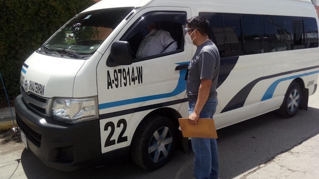 Desde Tlaxcala: Mantiene Secte supervisión del uso obligatorio de cubrebocas en el transporte público