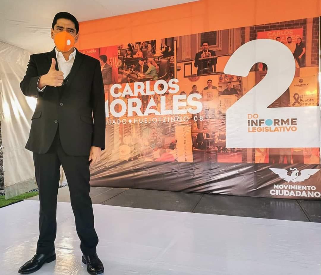 Pide el diputado Carlos Alberto Morales mayor seguridad en la región de Huejotzingo tras atentado en su domicilio