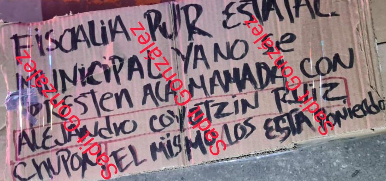 Hallan narcomensaje sobre restos encontrados debajo del puente de la autopista México-Puebla