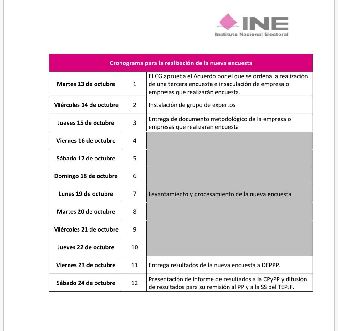 """24 de octubre, """"Día D"""" para Morena: INE"""