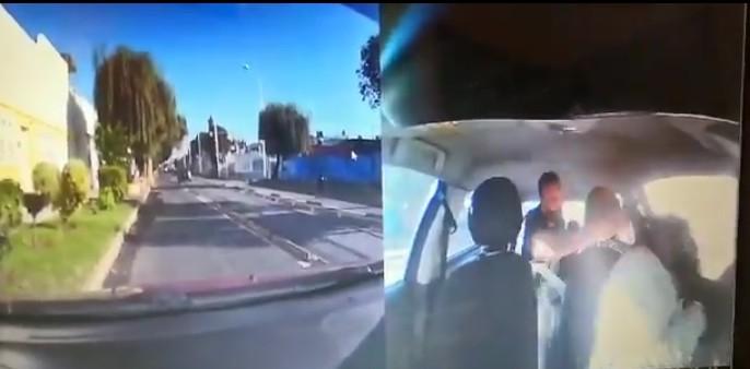 Video desde Puebla: Peligroso patán agrede a mujer conductora de Didi en posible asalto