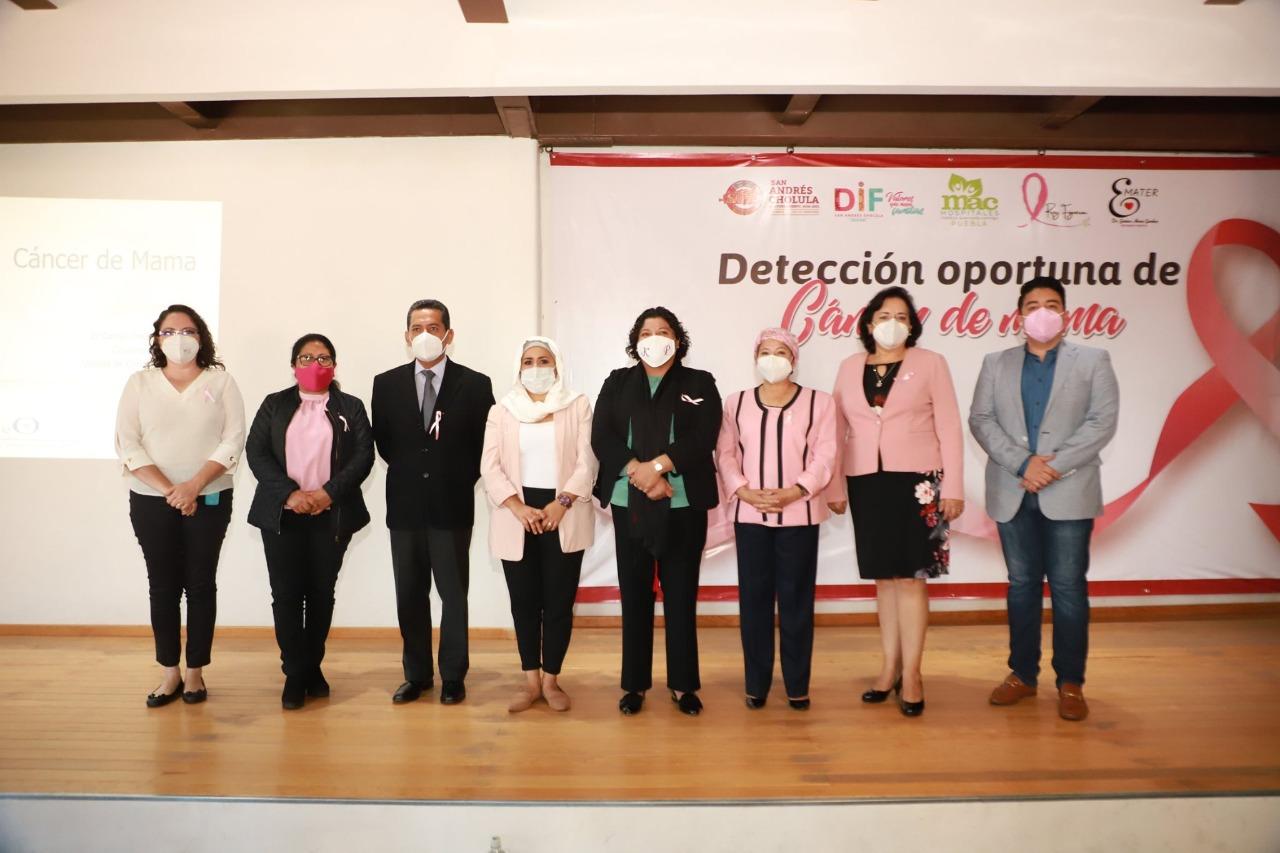 Desde San Andrés Cholula: DIF municipal fomenta la prevención y atención temprana contra el cáncer de mama