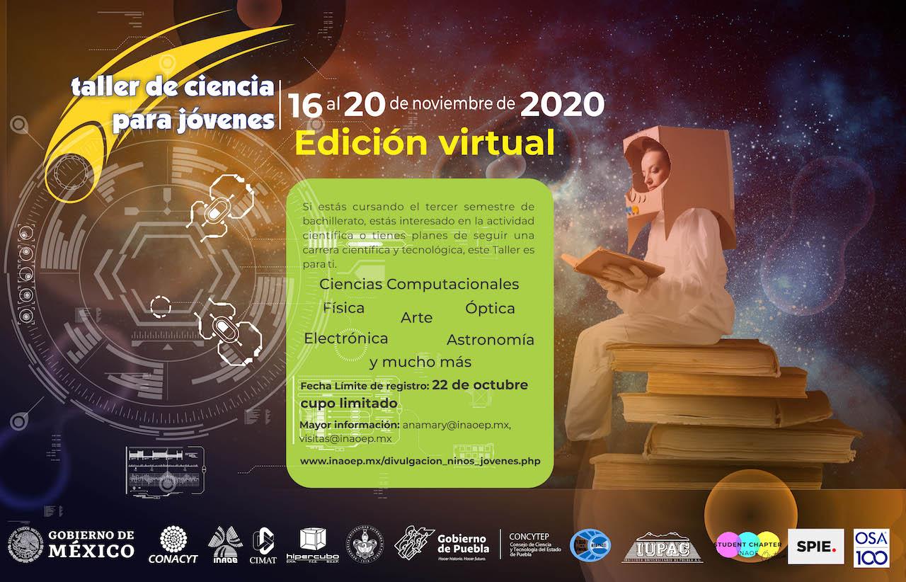 Lanzan convocatoria para la primera edición virtual del Taller de Ciencia para Jóvenes